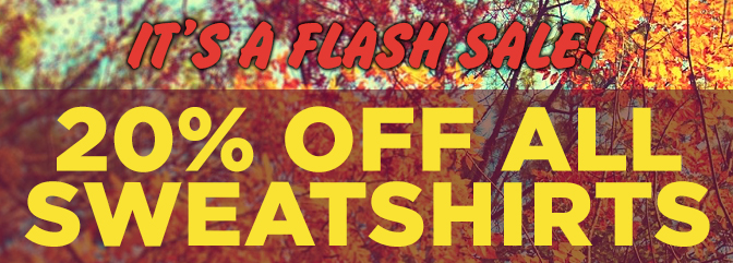 It's a flash sale! 20% off sweaters!