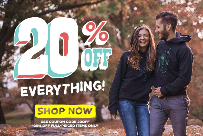 20% off everything. Click to shop now! Use coupon code 20%OFF