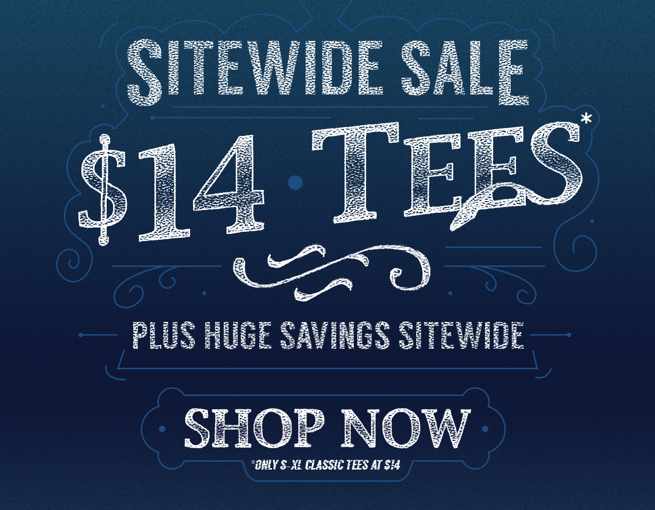 Sitewide Sale! Tees Just $14 Plus Huge Savings Sitewide!