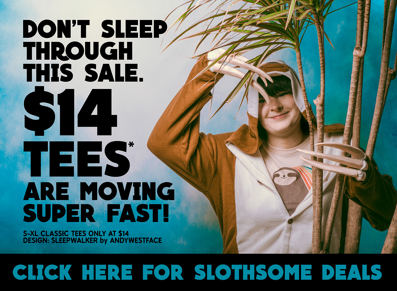 Don't sleep through the sale! Tees are $14 and moving fast. Click to shop now!