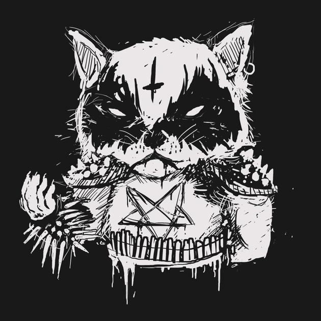 Grumpy Cat Black Metal Shirt