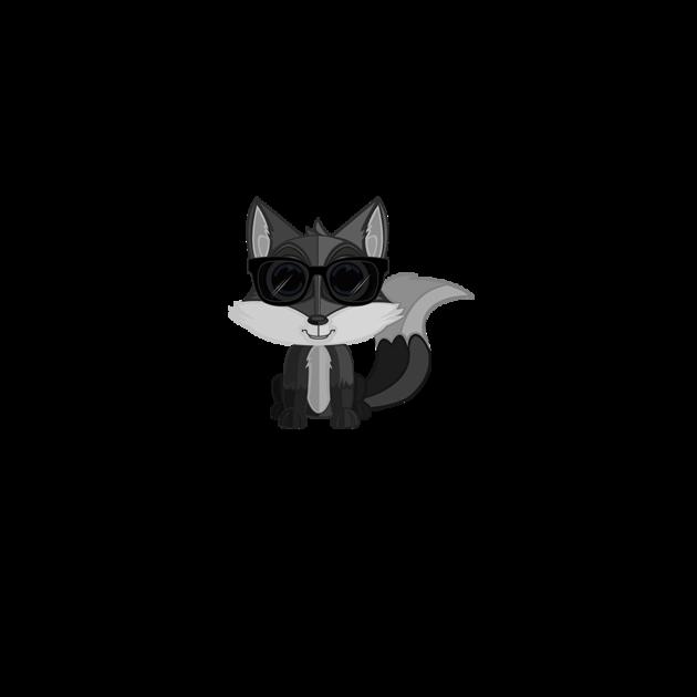 T shirts cool fox grey teepublic for Cool fox drawings